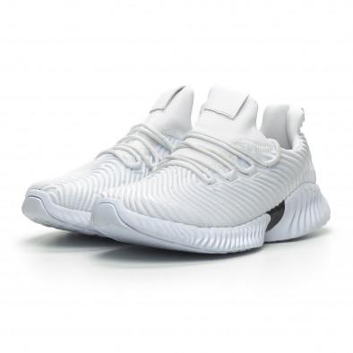 Бели мъжки ултралеки маратонки Wave дизайн  it100519-3 3
