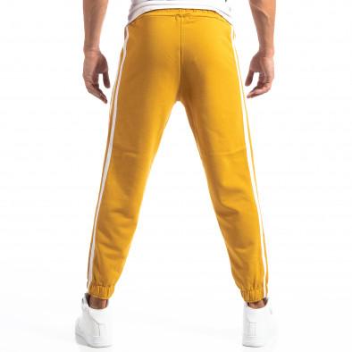 Мъжки жълт Jogger с бели кантове it250918-50 4