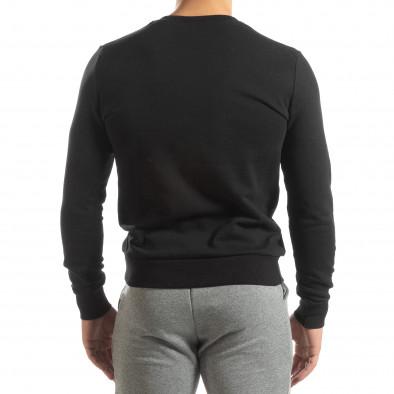 Basic мъжка памучна блуза в черно it150419-48 4