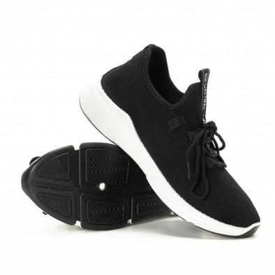 Плетени черни мъжки маратонки  it221018-36 4