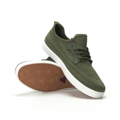 Мъжки леки спортни обувки в милитъри зелено it250119-15 4
