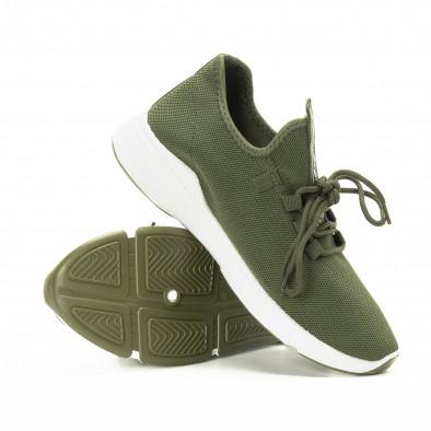 Плетени зелени мъжки маратонки  it221018-37 4