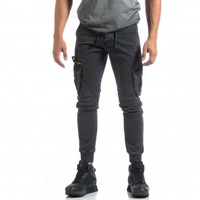 Мъжки сив панталон Cargo Jogger  it170819-9 3