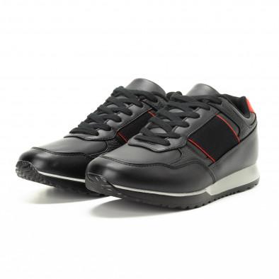 Черни мъжки маратонки класически модел it221018-31 3