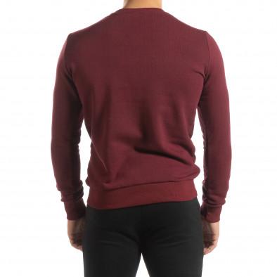 Basic мъжка памучна блуза в тъмно червено it150419-46 4