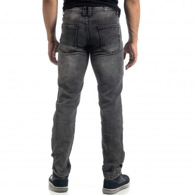 Еластични мъжки сиви дънки Regular fit it041019-23 3
