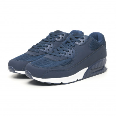 Сини мъжки маратонки с въздушна камера it251019-11 3