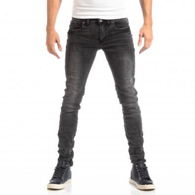 Намачкани мъжки дънки в сиво Slim fit it261018-8 3