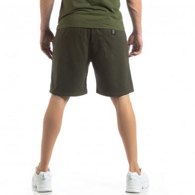 Мъжки спортни шорти в зелено it210319-69 4