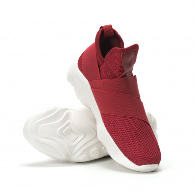 Slip-on мъжки маратонки червен текстил с ластици  it250119-9 4