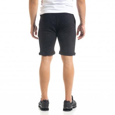 Мъжки трикотажни шорти черен меланж it050620-16 3