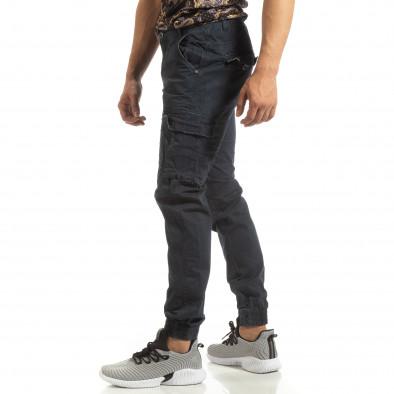 Мъжки карго джогър панталон в синьо it090519-10 2