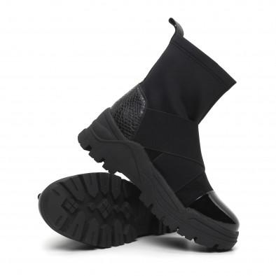 Slip-on дамски черни боти с груба подметка it260919-68 5
