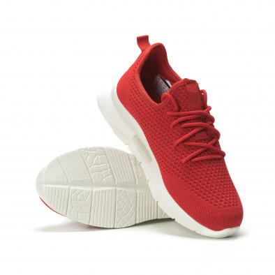 Мъжки леки червени маратонки Hole design it250119-21 4