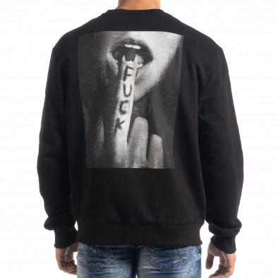 Мъжка памучна блуза с принт на гърба it041019-56 4