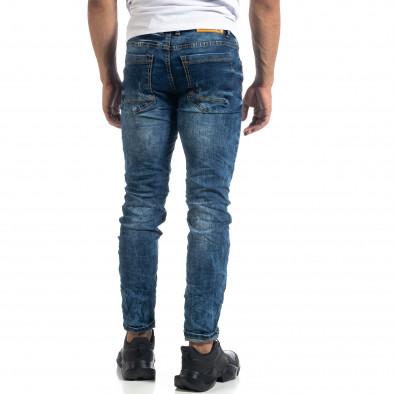 Washed мъжки сини дънки Slim fit it041019-31 3