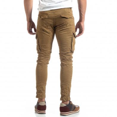 Каки мъжки карго панталон с прави крачоли it170819-14 4