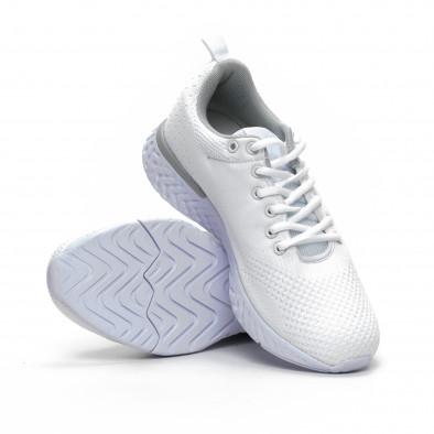Плетени мъжки бели маратонки it240419-13 4