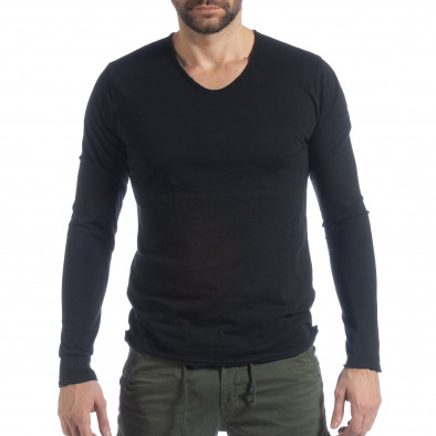 Мъжка блуза V-neck в черно it040219-88 2