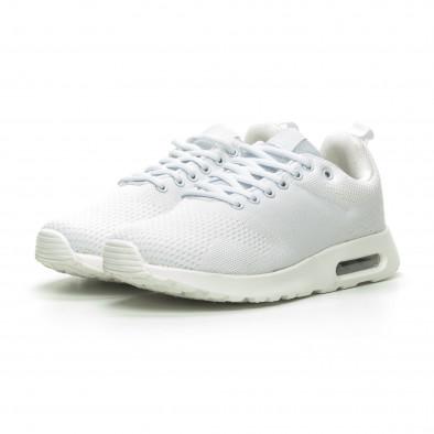 Плетени мъжки бели маратонки с въздушна камера it100519-6 3