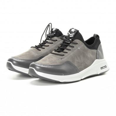 Комбинирани сиви мъжки маратонки it221018-35 3
