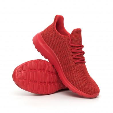 Мъжки маратонки червен меланж с декорация it130819-11 4