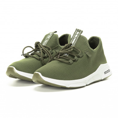 Плетени зелени мъжки маратонки  it221018-37 3