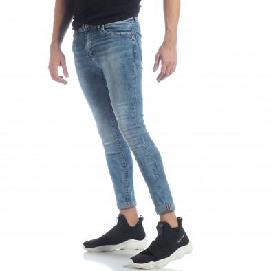 Мъжки Skinny Washed Jeans в синьо it040219-7 2