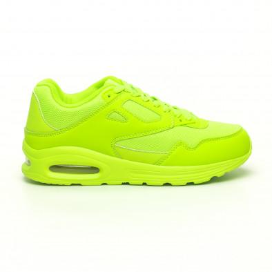 Мъжки маратонки с въздушна камера неоново зелено it251019-9 2