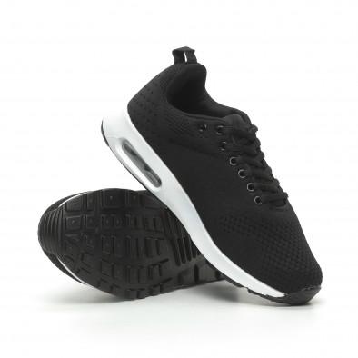 Плетени мъжки черни маратонки с въздушна камера it100519-7 4