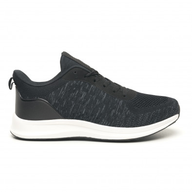 Мъжки олекотени маратонки черен меланж it251019-7 2