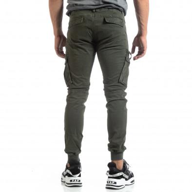 Мъжки зелен панталон Cargo Jogger  it170819-7 4