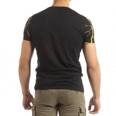 Мъжка тениска Supple в черно и жълто it150419-111 4