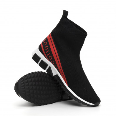 Мъжки маратонки тип чорап червен кант it260919-12 5
