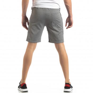 Сиви мъжки шорти с ивици it210319-61 4