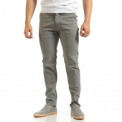 Мъжки CHINO панталон в сиво it090519-7 2