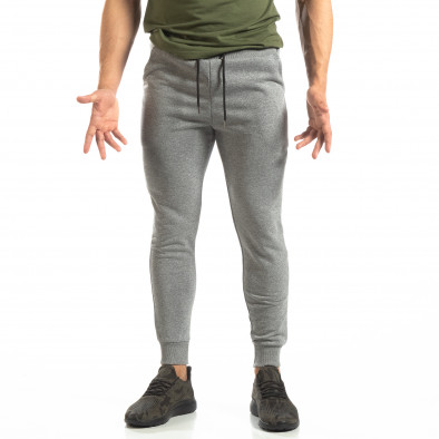 Basic мъжко памучно долнище в сиво it150419-33 3