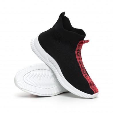 Мъжки маратонки чорап с червени надписи it260919-3 5