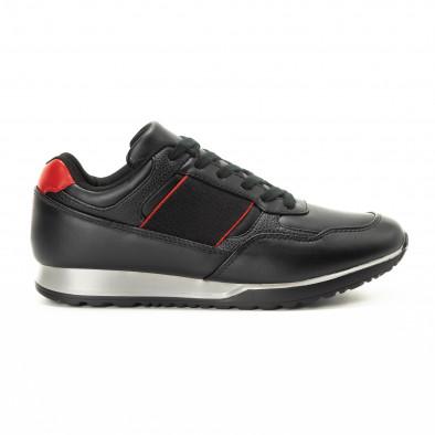 Черни мъжки маратонки класически модел it221018-31 2