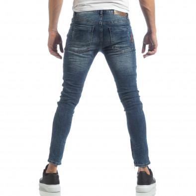 Мъжки намачкани Slim fit дънки с ципове it040219-9 4