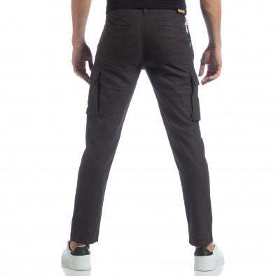 Мъжки фин панталон в сив меланж it040219-42 4