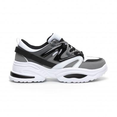 Сиви мъжки маратонки Chunky дизайн it260919-33 2