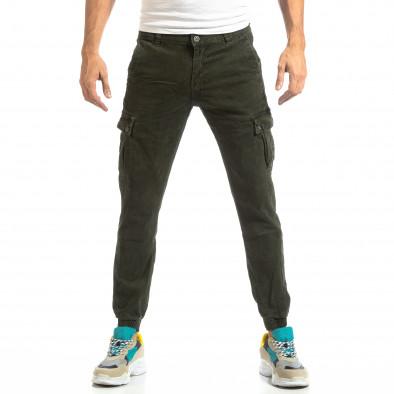 Зелен карго панталони с ластик на глезена it261018-22 3