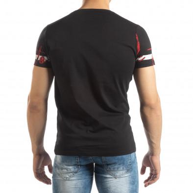 Мъжка тениска с принт в черно it150419-103 3