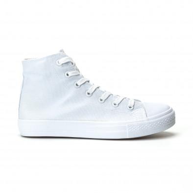 Мъжки бели високи кецове базов модел. Размер 42/44 it250119-3-3 3