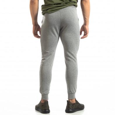 Basic мъжко памучно долнище в сиво it150419-33 4