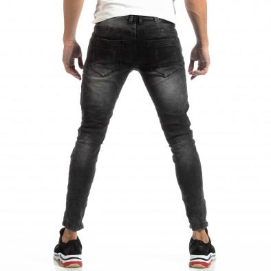 Мъжки Worn Jeans в сиво с акценти it261018-19 4