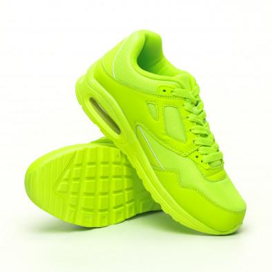 Мъжки маратонки с въздушна камера неоново зелено it251019-9 4