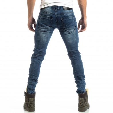 Рокерски мъжки дънки с камуфлажни кръпки it261018-1 4