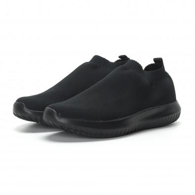 Ниски мъжки маратонки тип чорап All black it190219-11 3